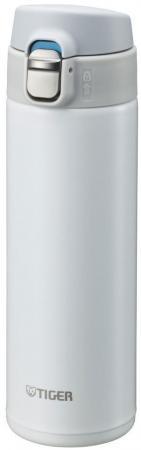 Термокружка Tiger MMJ-A048 Snow White 0,48 л (цвет снежно-белый, откидная крышка на кнопке, нержавеющая сталь)