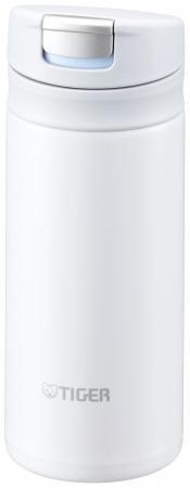 Термокружка Tiger MMX-A020 Snow White 0,2 л (цвет снежно-белый, откидная крышка на кнопке, нержавеющая сталь)