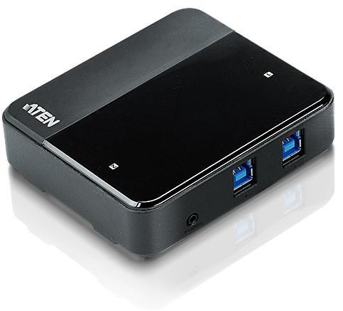 цены Переключатель ATEN US234-AT USB, 2 ПК> 4 устройства, 2 USB B-тип > 4 USB A-тип, Male > Female, со шнурами A-B 2х1.2м. для подкл. к управ. компьютерам