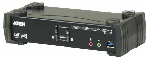Переключатель KVM ATEN CS1922M-AT-G KVM+Audio+USB 3.0, 1 user USB+DP => 2 cpu USB+DP, со шнурами DP 2x1.5м.+USB 2х1.8м. цена