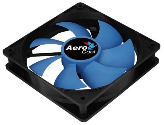 Вентилятор Aerocool Force 12 PWM Blue, 120x120x25мм, 500-1500 об./мин., разъем PWM 4-PIN, 18.2-27.5 dBA вентилятор noctua nf p12 pwm