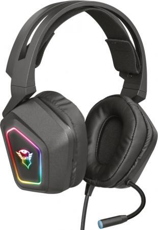 Гарнитура TRUST GXT 450 BLIZZ black (USB 7.1,подсветкой,вибрация,нейлоновый кабель 3м,регулирование громкости) цена