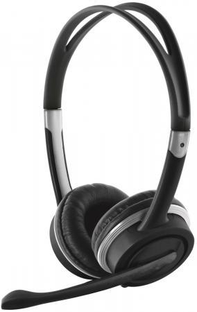 Гарнитура TRUST Mauro black (USB,кабель 2,5м,пульт ДУ с регулятором громкост,отключения звука микрофона) цена