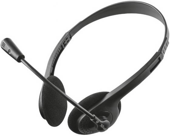 Гарнитура TRUST PRIMO black (гибкий микрофон, регулятор громкости,Mini-jack 3,5 и переходник с разъемом наушники/микрофон для ПК.) trust 17682 stello mini