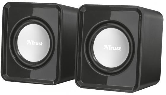 лучшая цена Колонки TRUST 2.0 Leto black (6Вт, 3,5mini-jack)