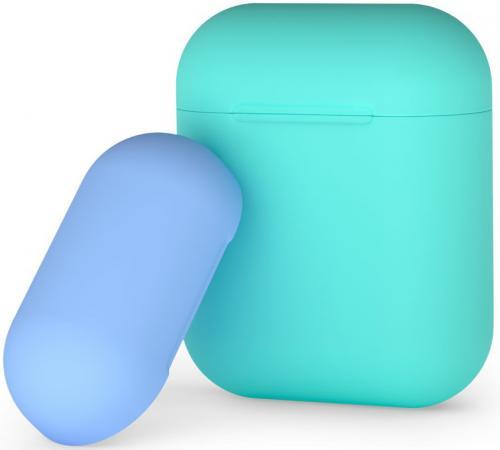 Купить Чехол Deppa 47018 для AirPods мятный голубой