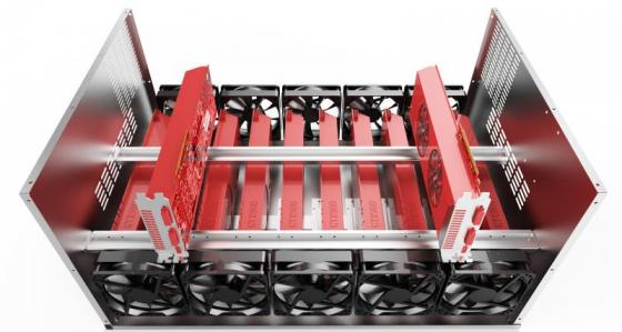 Корпус 3Cott MC-12A для майнинга на 12 видеокарт с 2 слотоми под БП и местами для 10 вентиляторов цена