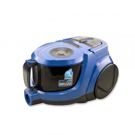 Пылесос Ginzzu VS438, 2000 Вт., без мешка, циклонный фильтр пылесос ginzzu vs117