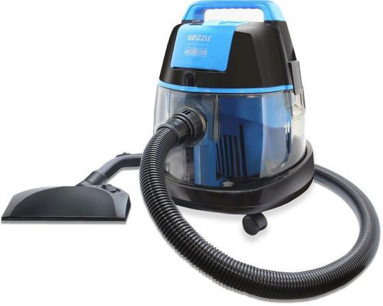 цена на Пылесос Ginzzu VS521 с аквафильтром, 2100/390 Вт., синий