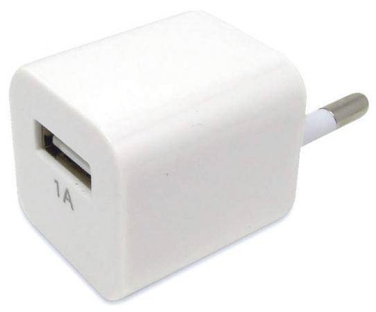 Сетевое зарядное устройство Auzer AWC1 1A белый сетевое зарядное устройство qumo energy 1xusb 1a черное 20775