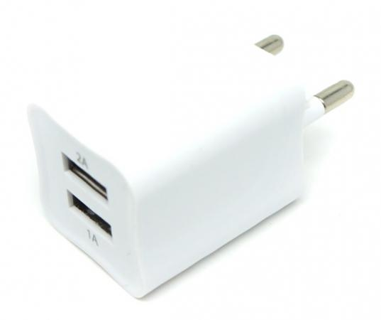 Фото - Сетевое зарядное устройство Auzer AWC2 2А/1А белый беспроводное зарядное устройство auzer 1а золото