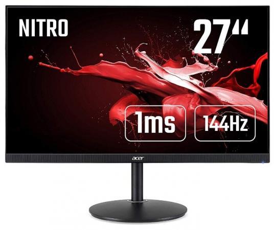 """МОНИТОР 27"""" Acer Nitro XF272UPbmiiprzx Black с поворотом экрана (LED, Wide, 2560х1440, 144Hz, 1ms, 170°/160°, 300 cd/m, цена 2017"""