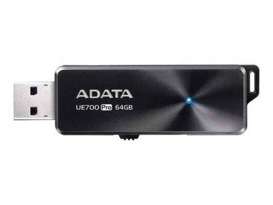 Флеш накопитель 64GB A-DATA UE700 Pro, USB 3.2, Черный, металлич, read/write 360/180Mb/s швабра регина с ручкой металлич
