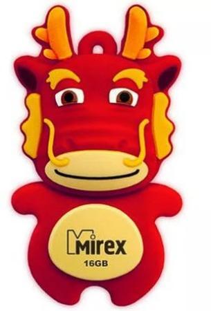 Фото - Флеш накопитель 16GB Mirex Dragon, USB 2.0, Красный usb флеш накопитель perfeo 4gb c04 красный
