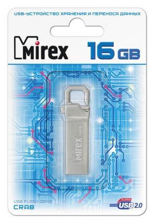Флеш накопитель 16GB Mirex Crab, USB 2.0 флеш накопитель 16gb mirex city usb 2 0 синий