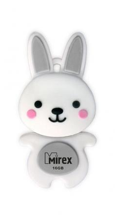 Флеш накопитель 16GB Mirex Rabbit, USB 2.0, Серый флеш накопитель 16gb mirex city usb 2 0 синий