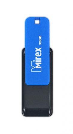 Флеш накопитель 32GB Mirex City, USB 2.0, Синий флеш накопитель 16gb mirex city usb 2 0 синий