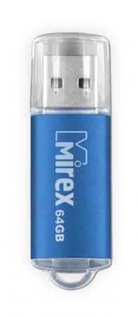 Фото - Флеш накопитель 64GB Mirex Unit, USB 2.0, Синий флеш накопитель 64gb mirex elf usb 2 0 синий