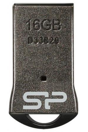 цена на Флеш накопитель 16GB Silicon Power Touch T01, USB 2.0, Черный, без цепочки
