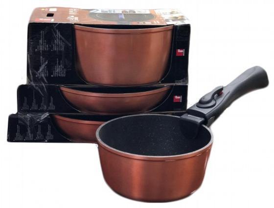 Набор посуды Bergner 8436 CP-BG термос bergner bg 7483 mm