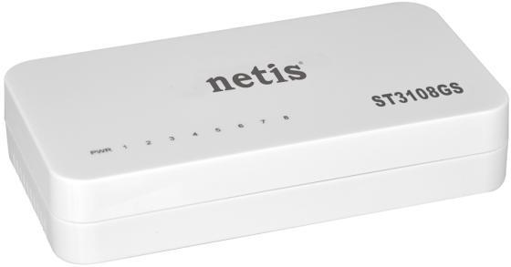 Netis ST3108GS Неуправляемый коммутатор неуправляемый, настольный, порты 10-100Base-TX: 8 шт. коммутатор netis st3124g net switch 24port 1000m