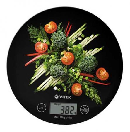 лучшая цена 8006-VT(BK) Весы кухонные VITEK Предел взвешивания 10 кг.Материал чаши стекло.Точность измерения 1г.