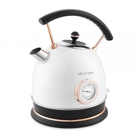 664-1-КТ Чайник Kitfort.Мощность: 1800–2150 Вт.Ёмкость чайника: 1,8 л.белый жемчуг.
