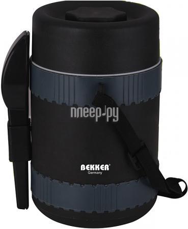 4345-BK Термоконтейнер BEKKER Рекомендована ручная чистка. Цвет серый. Состав: пластик. 9352 bk кофеварка ручная bekker 300мл корпус алюминий ручка пластик