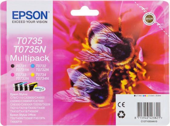 Набор картриджей для Epson C13T10554A10 Multi Pack Stylus C79/CX3900/4900/5900 4 цвета Black Cyan Magenta Yellow
