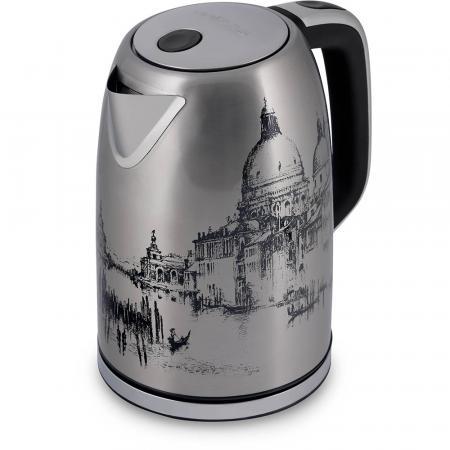 Фото - Чайник электрический Polaris PWK 1763CA Italy 1.7л. 2200Вт нержавеющая сталь/рисунок (корпус: нержавеющая сталь) чайник электрический polaris pwk 1743c 1 7л 2200вт голубой