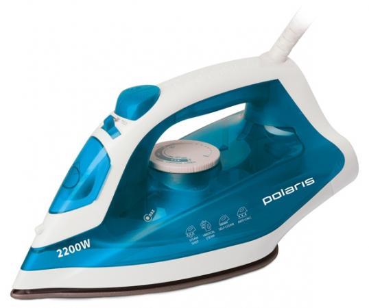 лучшая цена Утюг Polaris PIR 2285K 2200Вт голубой/белый