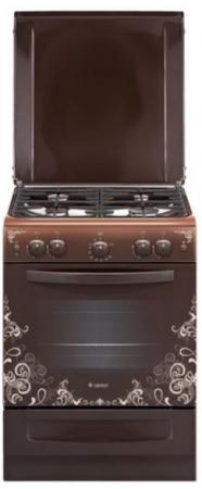 Плита Газовая Gefest ПГ 6100-02 0119 коричневый/рисунок узоры (металлическая крышка) реш.чугун