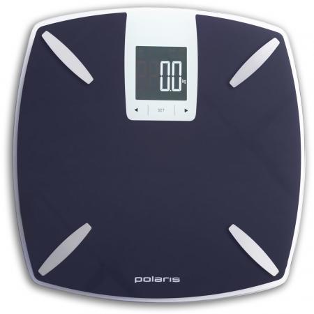 Весы напольные электронные Polaris PWS 1850DGF макс.180кг фиолетовый