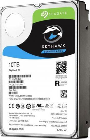Купить Жесткий диск 3.5 10 Tb 7200rpm 256Mb cache Seagate SkyHawkAI SATA III 6 Gb/s ST10000VE0008