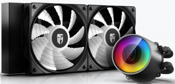 Устройство охлаждения(кулер) Deepcool Watercooler CASTLE 240 V2 Soc-FM2+/AM2+/AM3+/AM4/1150/1151/1155/2011/ 4-pin + 3-pin 18-30dB Al 250W 1396gr LED Ret