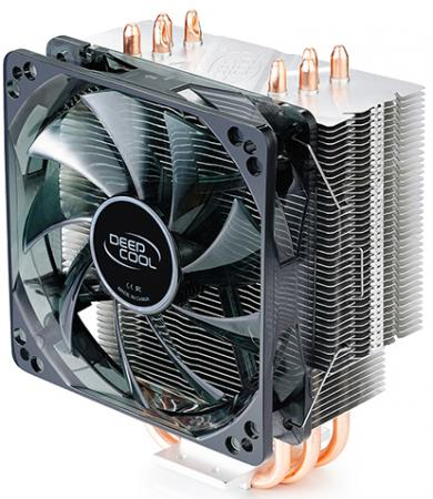 Устройство охлаждения(кулер) Deepcool GAMMAXX 400 BLUE BASIC Soc-FM2+/AM2+/AM3+/AM4/1150/1151/1155/ 4-pin 18-30dB Al+Cu 150W 640gr LED Ret deepcool gammaxx 400