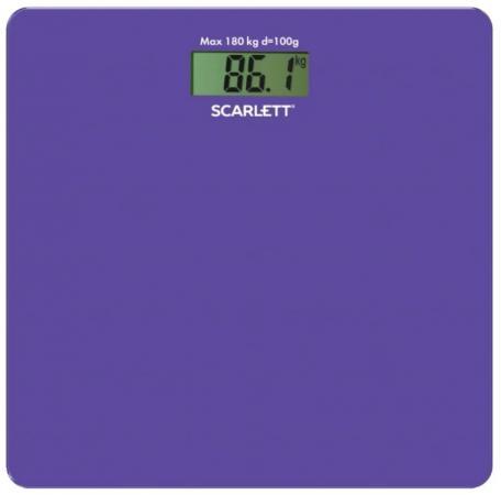 Весы напольные Scarlett SC-BS33E042 сиреневый весы напольные scarlett sc bsd33m951