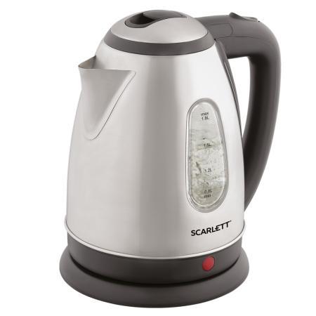 Чайник электрический Scarlett SC-EK21S88 1.8л. 2200Вт черный (корпус: нержавеющая сталь) цена и фото