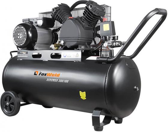 Масляный ременной компрессор AEROMAX 380/100 (пр-во FoxWeld/КНР) аппарат плазменной резки plasma 73 пр во foxweld кнр