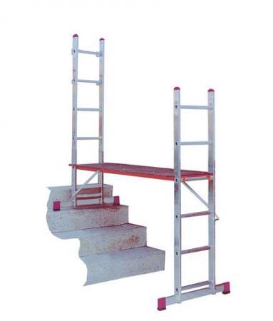 Лестничные подмости CORDA 2х5 с роликами