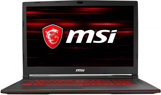 Ноутбук 17.3 FHD MSI GL73 8SC-033XRU black (Core i7 8750H/8Gb/256Gb SSD/1650 4Gb/DOS) (9S7-17C812-033) ноутбук msi gs73 7re 015ru core i7 7700hq 8gb 2tb 128gb ssd nv gtx1050ti 4gb 17 3 fullhd dvd win10 black