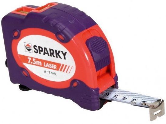 цена на Sparky Рулетка 7,5 м с лазером