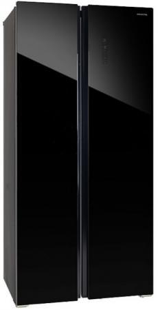 Холодильник HIBERG RFS-480D NFGB черный