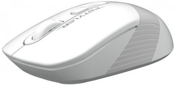 A-4Tech Мышь FStyler FG10 WHITE белый/серый оптическая (2000dpi) беспроводная USB [1147569]