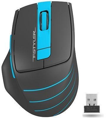 A-4Tech Мышь FStyler FG30 BLUE серый/синий оптическая (2000dpi) беспроводная USB [1147561]