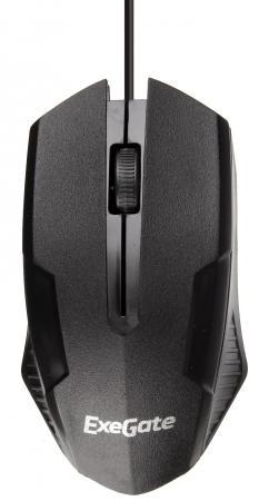 цена на Exegate EX279944RUS Мышь Exegate SH-9025L2 <black, optical, 3btn/scroll, 1000dpi, USB, шнур 2,2м>, Color box