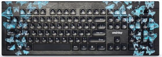 купить Клавиатура проводная мультимедийная с принтом Smartbuy ONE 223 USB Butterflies [SBK-223U-B-FC] дешево