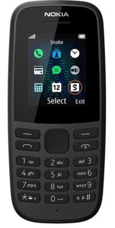 Телефон NOKIA 105 Dual sim (2019) черный 1.77 4 Мб 16KIGB01A01