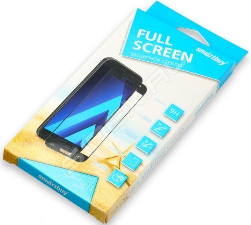 Защитное стекло Smartbuy для Samsung Galaxy A6+ с черной рамкой 2.9D [SBTG-FR0011] защитное стекло smartbuy sbtg 3d0013 для samsung galaxy s8 3d 0 33 мм полное покрытие экрана с рамкой черный