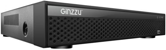 Регистратор Видеонаблюдения GINZZU HD-815 8-канальный 1080N гибридный 5 в 1 (HDMI/VGA выход, 8 входов видео/4 аудио, LAN, 2*USB, 1SATA до 8Tb, поддерж